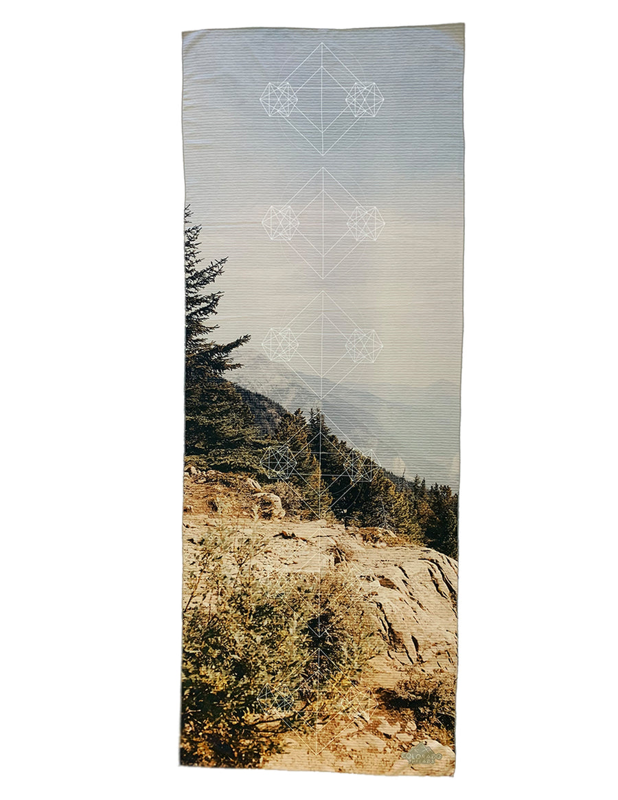 Mountain Vista Yoga Mat Towel