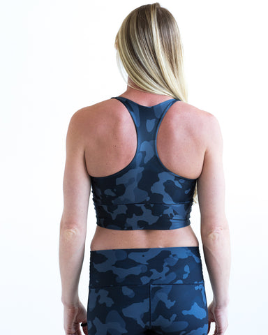 Image of Onyx Camo Longline Sports Bra *FINAL SALE*