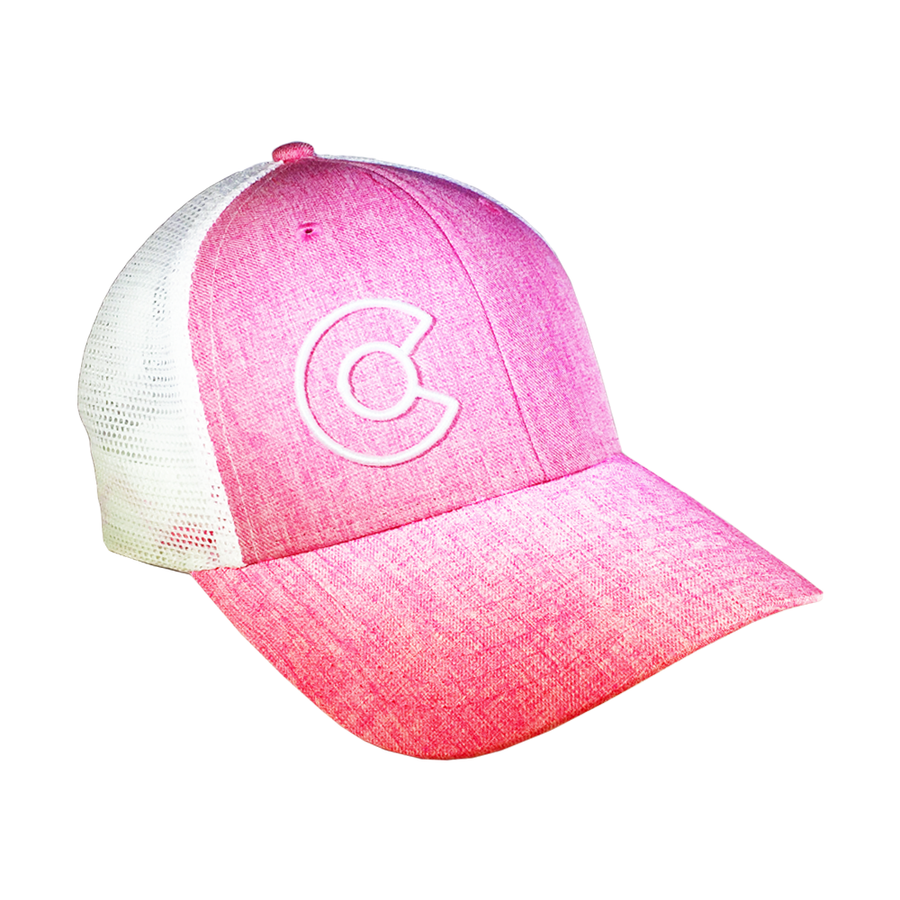 Pink Colorado C Trucker Hat