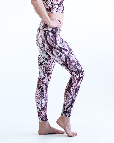 Image of Pink Snakeskin Yoga Pants