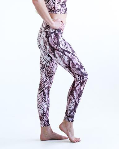 Pink Snakeskin Sports Bra & Yoga Pants Bundle