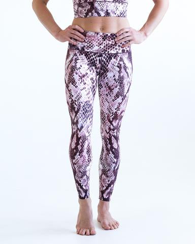 Image of Pink Snakeskin Sports Bra & Yoga Pants Bundle