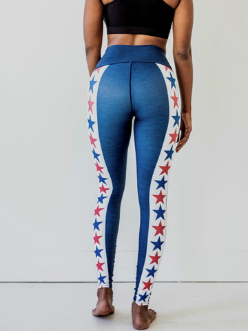 Image of Red, White & Blue Yoga Pants