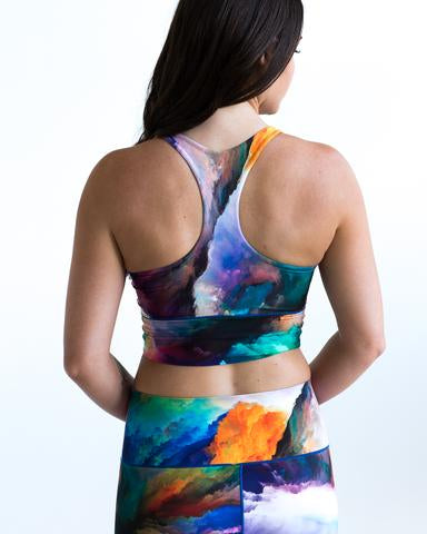 Watercolor Sports Bra & Yoga Pants Bundle