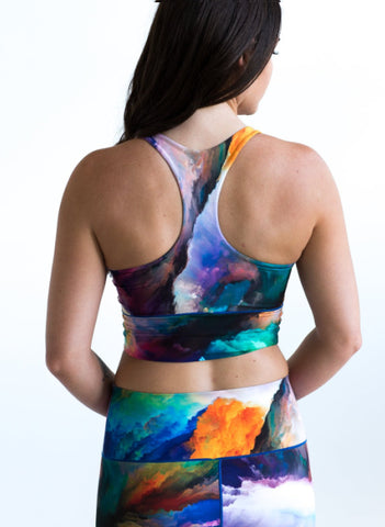 Watercolor Longline Sports Bra