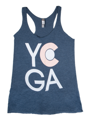 CO Yoga Tank (Heather Navy)
