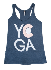 CO Yoga Tank (Heather Navy) *FINAL SALE*