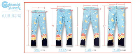 Image of Youth Pants Size Chart