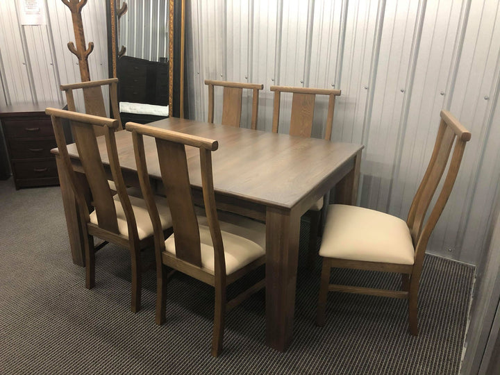 Oak Ash Norman Table and 6 Chairs