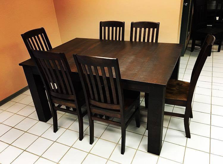 Rustic 431 with 6 Chairs Set