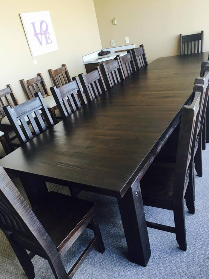 Build Your Own Rustic 460 Table Set & Add Up To 14 Chairs