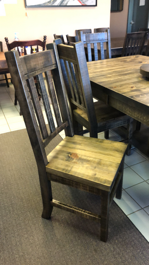 Product: R750 Rustic Slat-Back Chair in Lowry Finish Regular $642 each