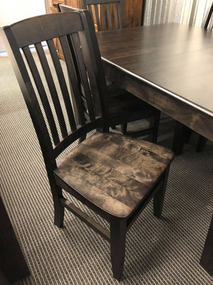 Product: 761B Scholar Chair w/ Saddled Seat in Midnight Finish Regular $485 each