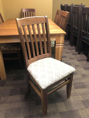 Product: 761W Walnut Scholar Chair w/ Upholstered Seat in Natural Finish Regular $696 each