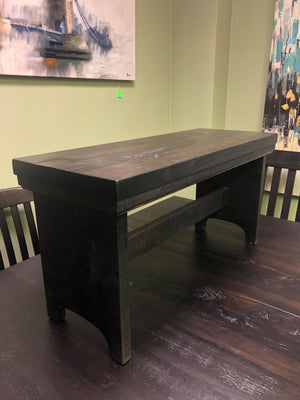 "Product: R081 Rustic 36"" Bench in Guinness Finish Regular $670 each"