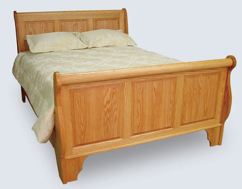 Raised Panel Sleigh Bed