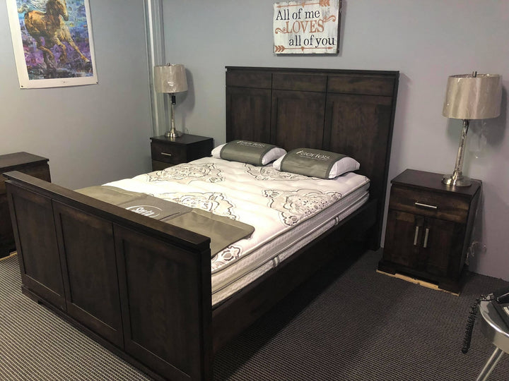 Designer Queen Bed with 2 Nightstands - Old Hippy Wood Products 2415-80 Ave, Edmonton, AB