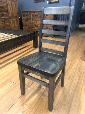 652 Ladder-Back Side Chair Priced with Rustic Pine Seat - ONLY 6 LEFT!