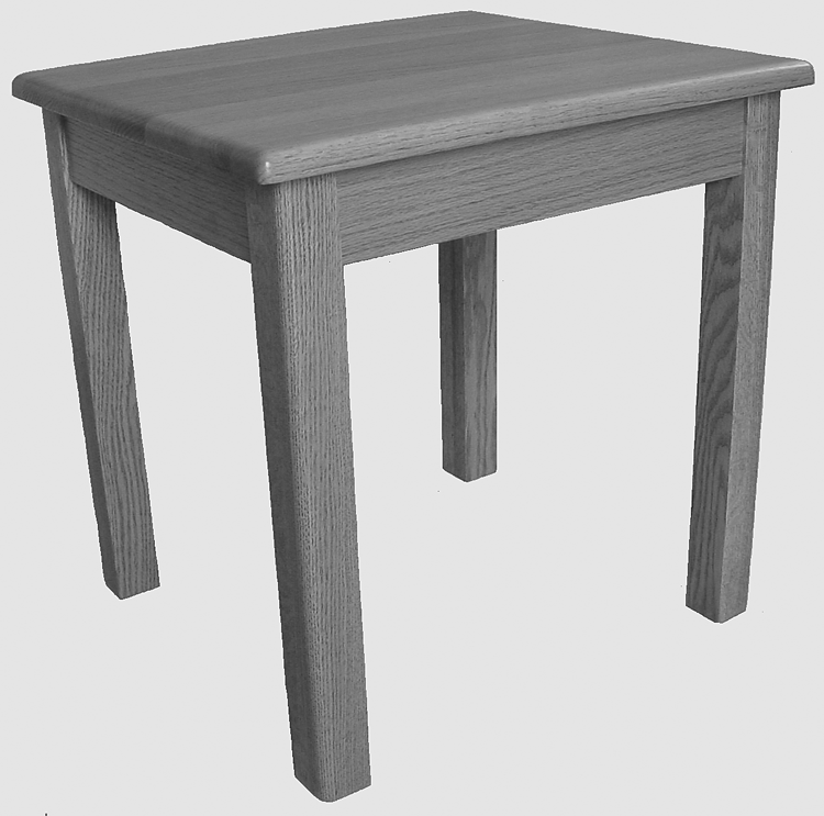 065 4/4 End Table - Old Hippy Wood Products 2415-80 Ave, Edmonton, AB