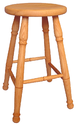 "Colonial 30"" Stool 8 LEFT - Old Hippy Wood Products 2415-80 Ave, Edmonton, AB"