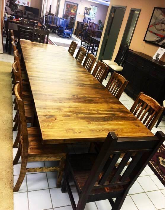Super Table and 14 chairs - Old Hippy Wood Products 2415-80 Ave, Edmonton, AB