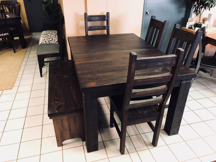 Rustic Table and Chairs with Bench - Old Hippy Wood Products 2415-80 Ave, Edmonton, AB