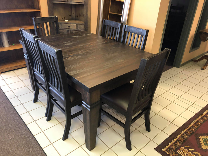 Rustic Table and 6 Lumbar Back Chairs - Old Hippy Wood Products 2415-80 Ave, Edmonton, AB