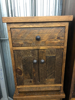 1 Drawer, 2 Door Rustic Nightstand - Old Hippy Wood Products 2415-80 Ave, Edmonton, AB