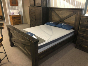Rustic Queen Bed Ebony - Old Hippy Wood Products 2415-80 Ave, Edmonton, AB