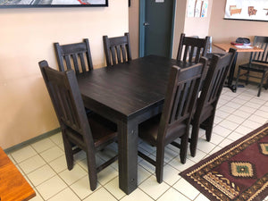 Rustic Table with Rustic Straight Back Chairs - Old Hippy Wood Products 2415-80 Ave, Edmonton, AB