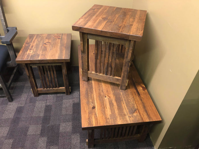 3 Piece Rustic Mission Coffee/End Table Set S-210