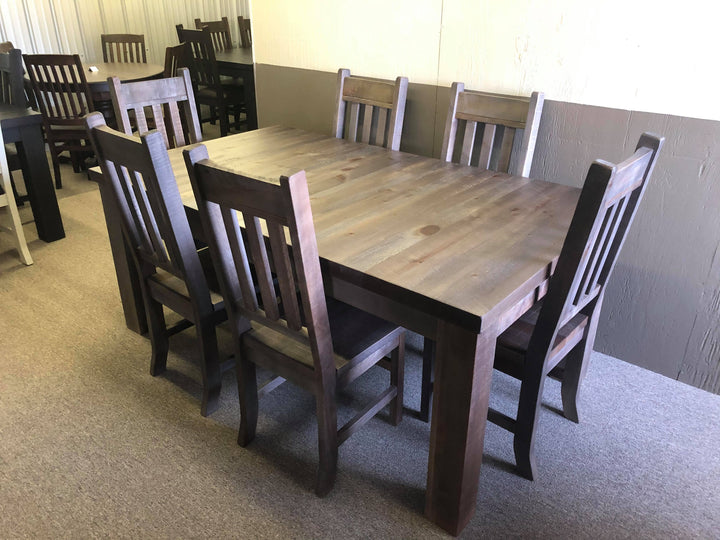 Rustic Grey Table and 6 Chairs - Old Hippy Wood Products 2415-80 Ave, Edmonton, AB
