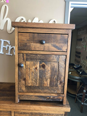 Rustic Nightstand -1 Drawer 1 Door - Old Hippy Wood Products 2415-80 Ave, Edmonton, AB