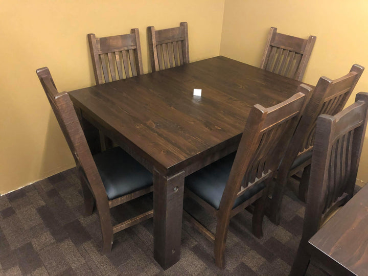 Rustic Scotch Table and 6 Lumbar Chairs - Old Hippy Wood Products 2415-80 Ave, Edmonton, AB