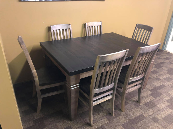 Two Tone Rustic Table and 6 Chairs - Old Hippy Wood Products 2415-80 Ave, Edmonton, AB