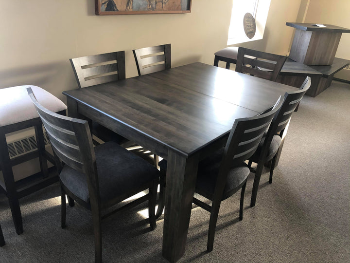 Carbon Grey Table and 6 Chairs - Old Hippy Wood Products 2415-80 Ave, Edmonton, AB