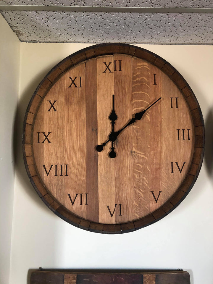 Barrel Head Clock - Old Hippy Wood Products 2415-80 Ave, Edmonton, AB