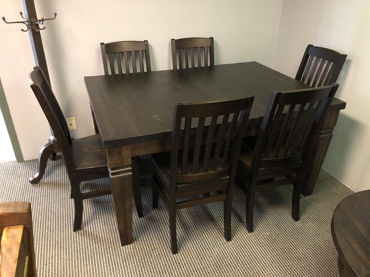 Rustic Table and 6 Walnut Chairs - Old Hippy Wood Products 2415-80 Ave, Edmonton, AB