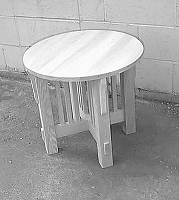 967 Mission End Table (Round) - Old Hippy Wood Products 2415-80 Ave, Edmonton, AB