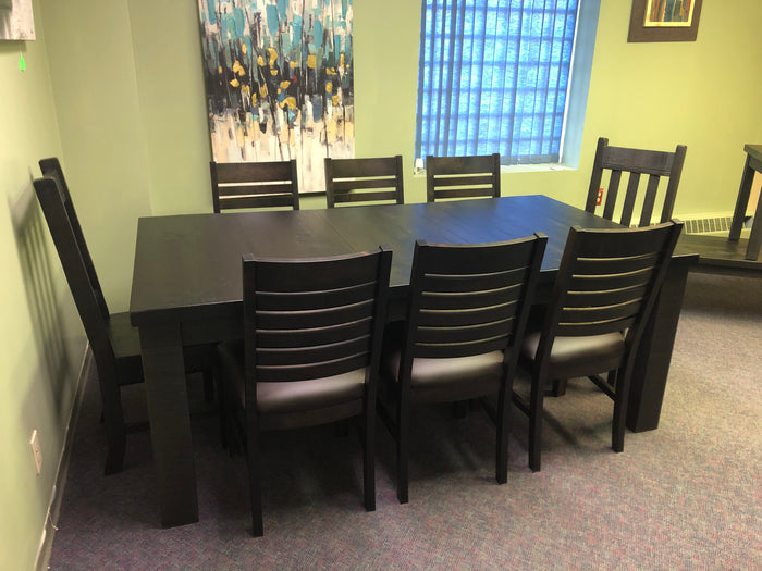 R431P Table with Square Legs in Guinness Finish Regular $3487 each