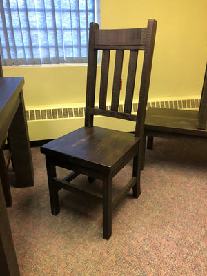 Product: R750 Rustic Slat-Back Chair in Guinness Finish Regular $642 each