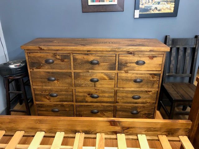 Rustic 12 Drawer Dresser S-169
