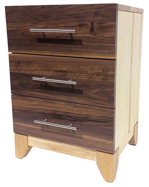 Libra #163 - 3 drawer nightstand - Old Hippy Wood Products 2415-80 Ave, Edmonton, AB