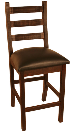 "R825 Ladder-Back Stool 24"" - Old Hippy Wood Products 2415-80 Ave, Edmonton, AB"