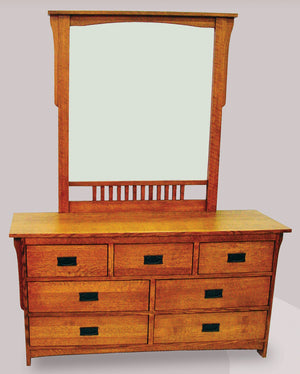 M175 7 Drawer Dresser with M194 Mirror - Old Hippy Wood Products 2415-80 Ave, Edmonton, AB