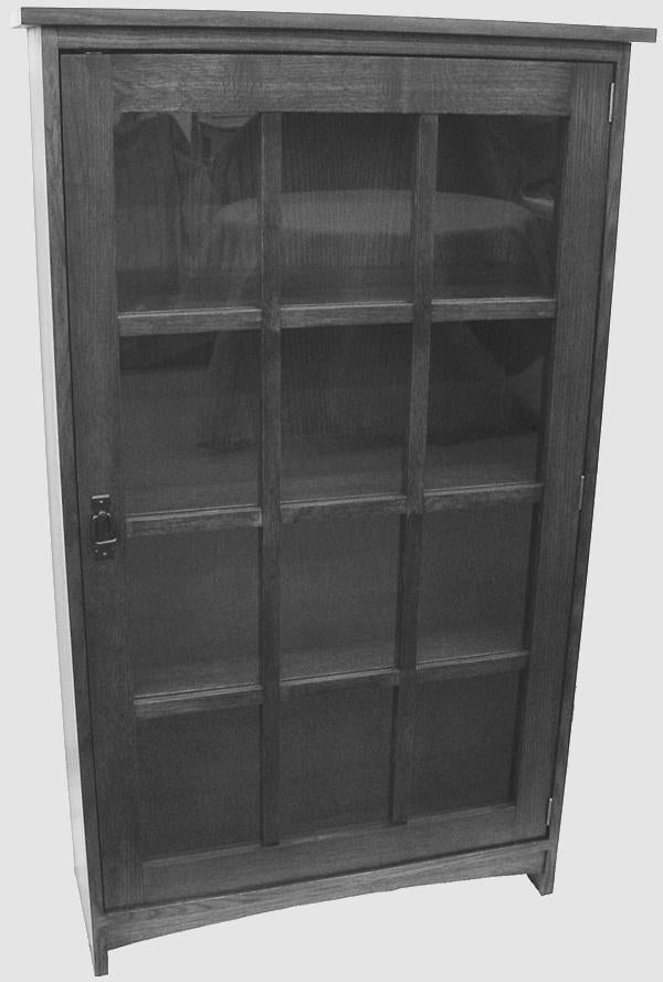 M158 Mission Curio 1 Door Bookshelf 14