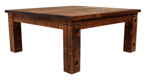 023 Rustic Coffee Table with Bolted Rustic Legs - Old Hippy Wood Products 2415-80 Ave, Edmonton, AB