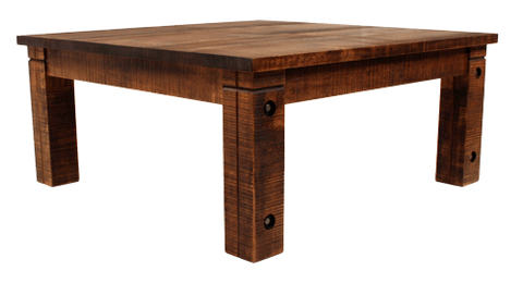 023 Rustic Coffee Table with Bolted Rustic Legs