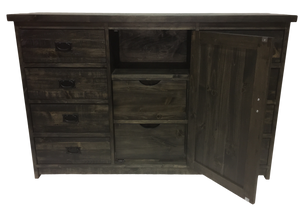 184 Rustic Pine Sideboard with 8 Drawers and 1 Door - Old Hippy Wood Products 2415-80 Ave, Edmonton, AB