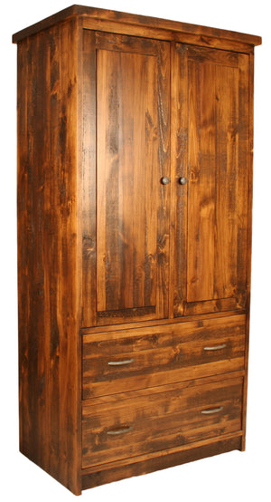 R228 2-Drawer, Rod, & 2 Shelves Wardrobe - Old Hippy Wood Products 2415-80 Ave, Edmonton, AB